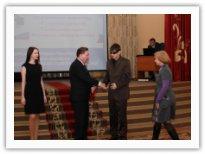 Вручение премии Горланову Николаю