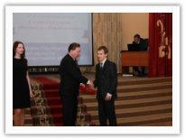 Вручение премии Нехаеву Эдуарду