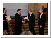 Вручение премии Соколовым Владиславу и Никите